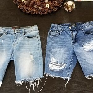 Other - 2 Size 29 Ripped Jean Shorts